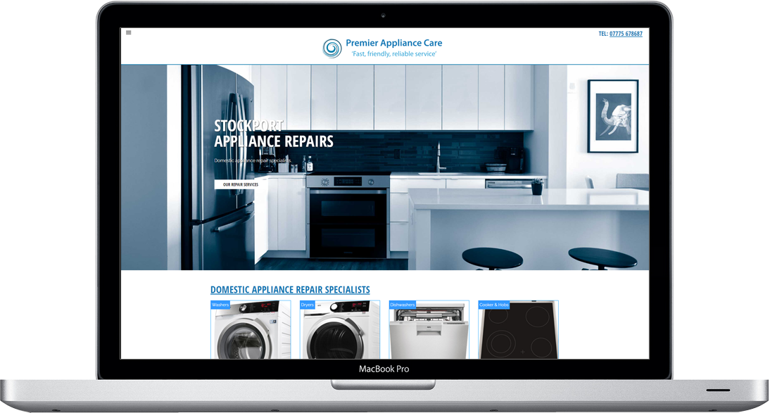 Appliance repairs website