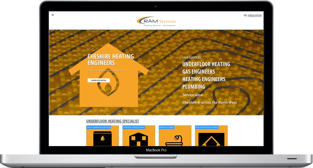 Ram Services heating engineers website