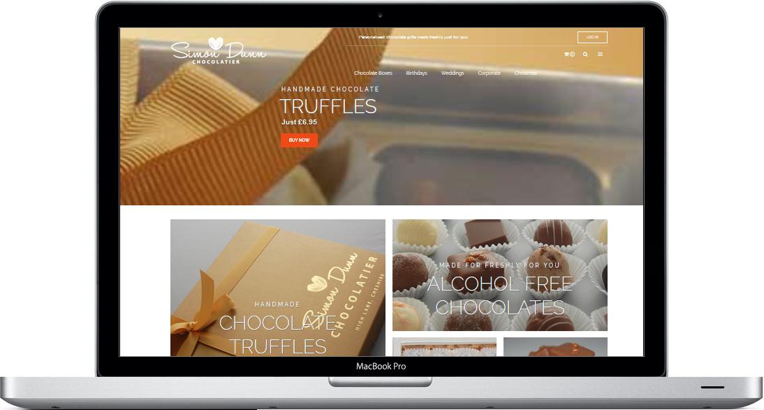 Chocolatier ecommerce website